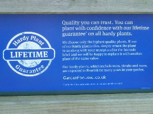 Garden Centre Group lifetime hardy plant guarantee