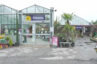 Entrance to Badger Garden Centre in Studley