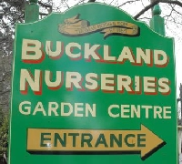 Sign for Buckland Nurseries