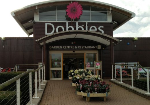 Entrance To Dobbies Atherstone