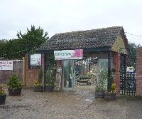 Entrance to Thompsons Garden Centre in Newchurch