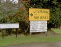 Withybrook Nurseries entrance